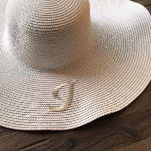 Nordstrom Straw Sun Hat w I  NWOT